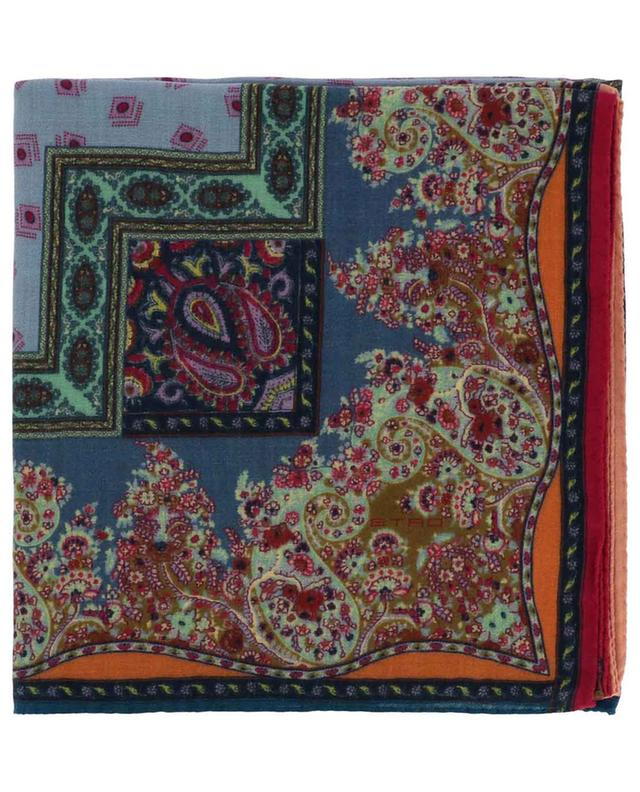 Foulard en laine et soie motifs orientaux Bombay ETRO