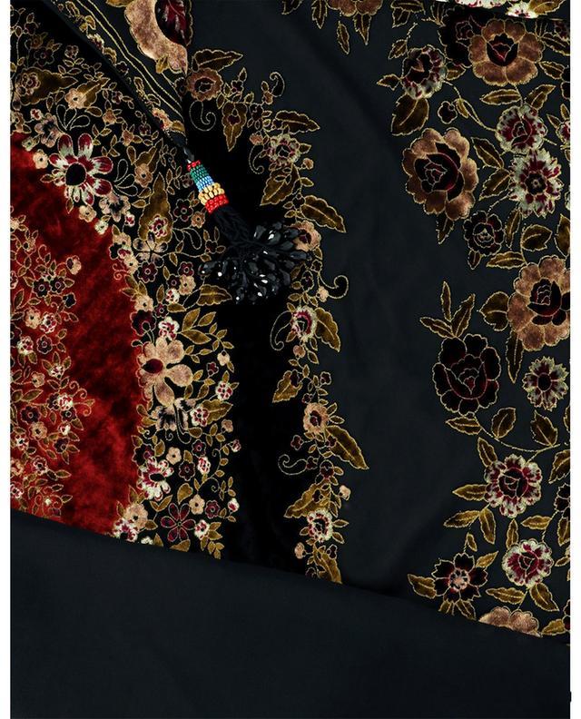 Foulard triangulaire en velours et mousseline fleuris Sera ETRO