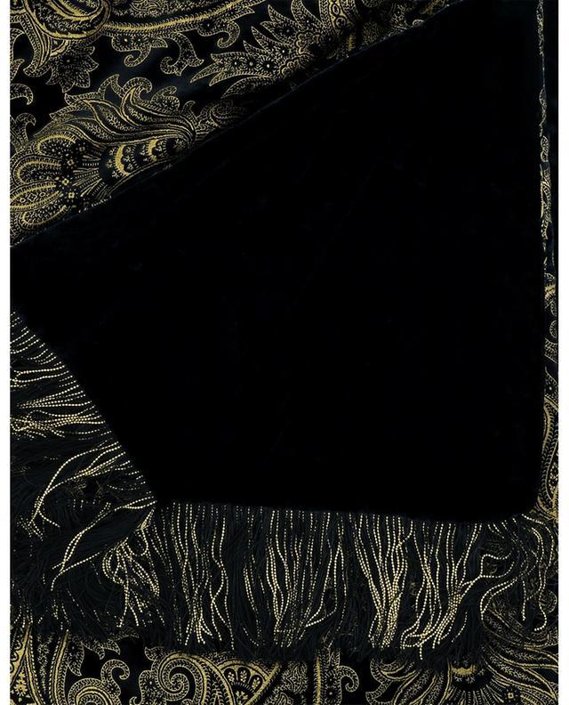Écharpe en velours imprimé paisley doré Midnight ETRO