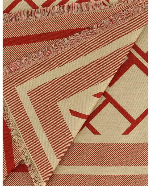Étole imprimée en laine, soie et coton Logato ETRO
