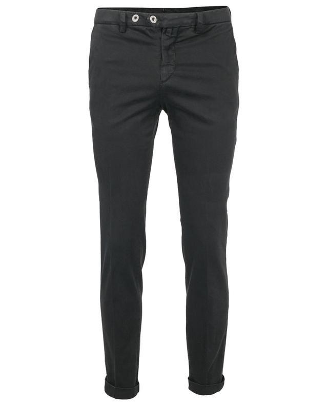 Pantalon chino skinny en gabardine à revers B SETTECENTO