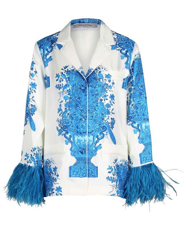 Hemd aus geblümtem Twill im Pyjama-Look Bluegrace Reedition VALENTINO