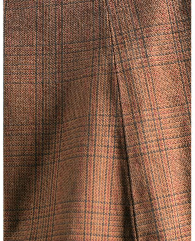 Pantalon chino en coton mélangé à carreaux B SETTECENTO