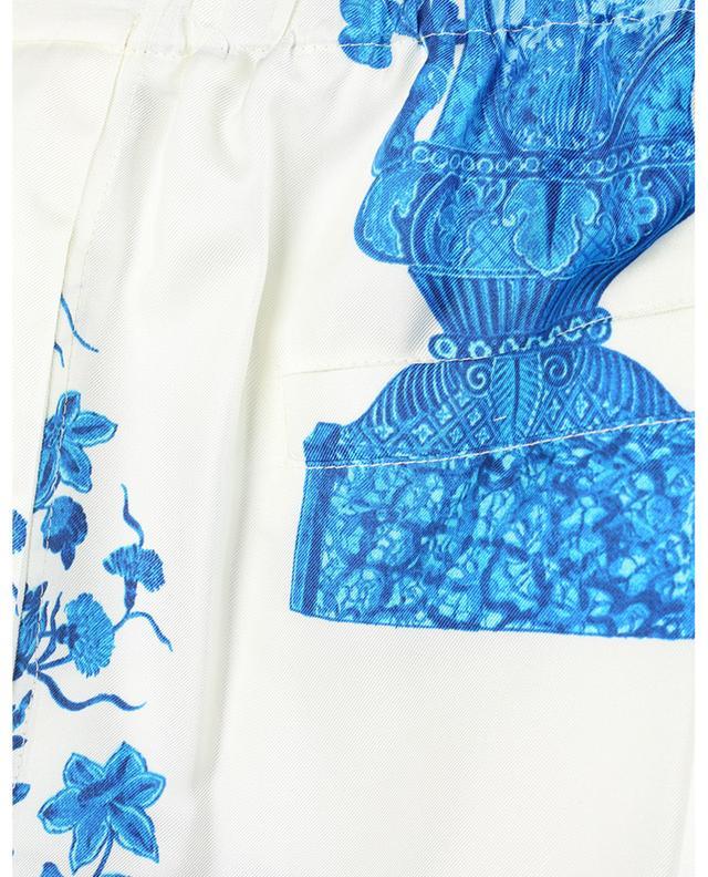 Pantalon esprit pyjama en sergé fleuri Bluegrace Reedition VALENTINO