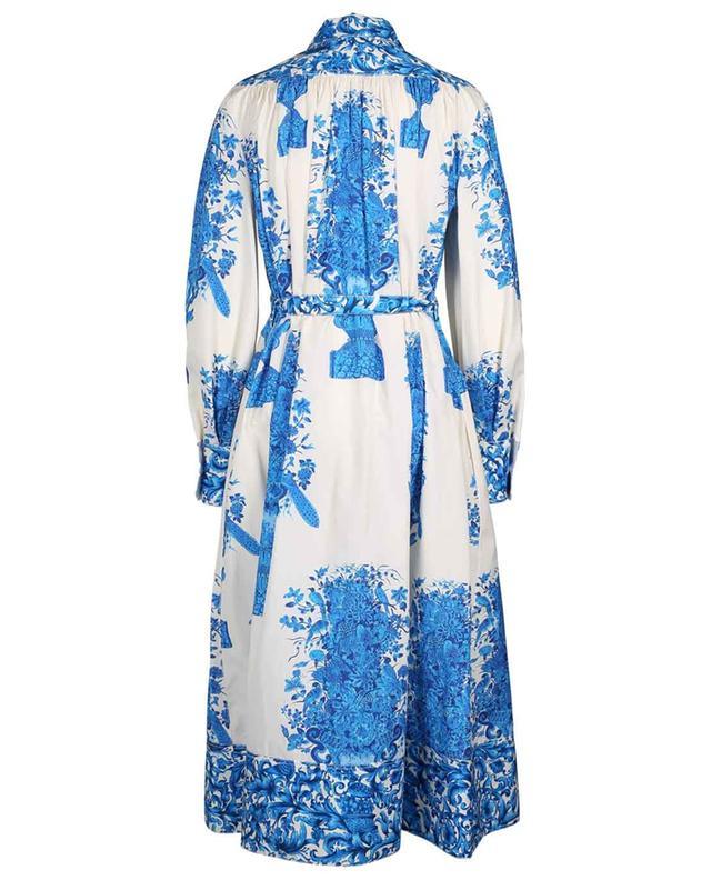 Robe chemise en popeline fleurie Bluegrace Reedition VALENTINO