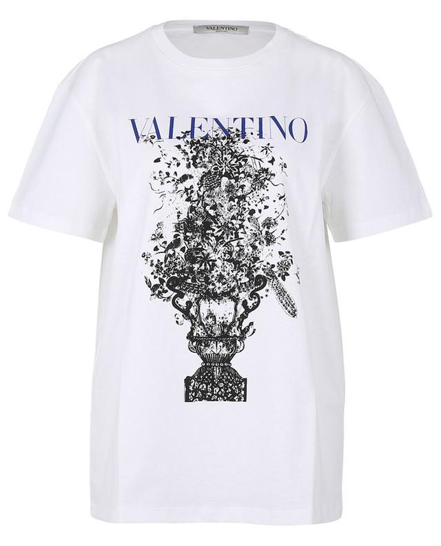 T-shirt décontracté en jersey imprimé Bluegrace Bouquet VALENTINO