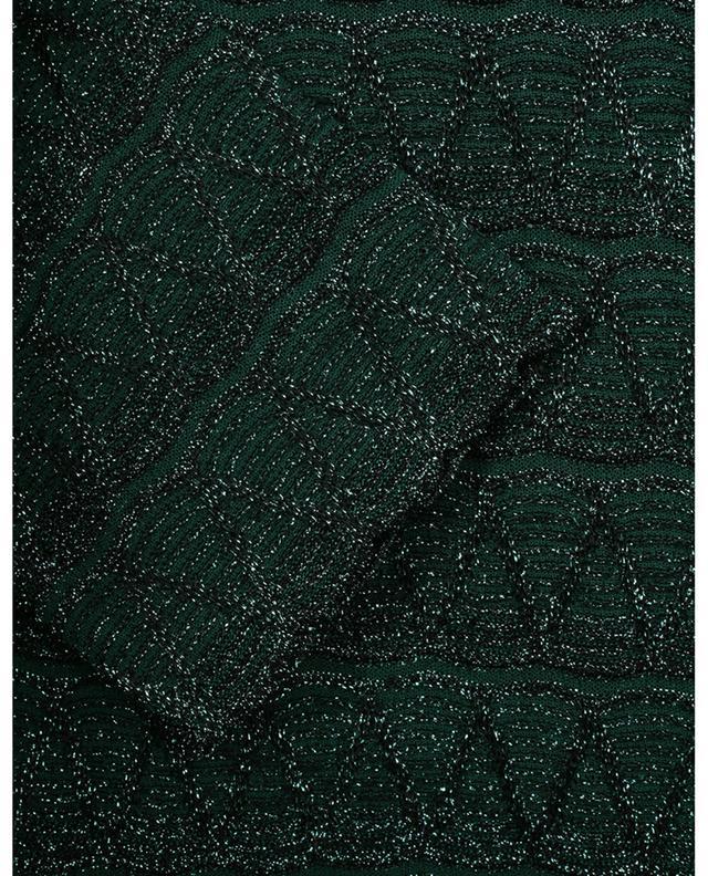 Pull boxy transparent en lamé motifs vagues et zigzags M MISSONI
