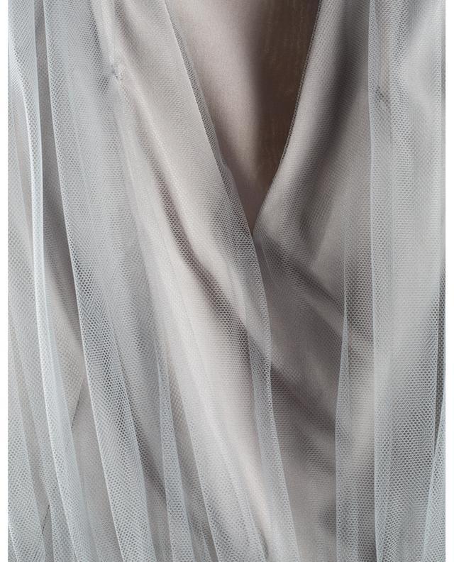 Robe sans manches plissée avec pull pailleté FABIANA FILIPPI