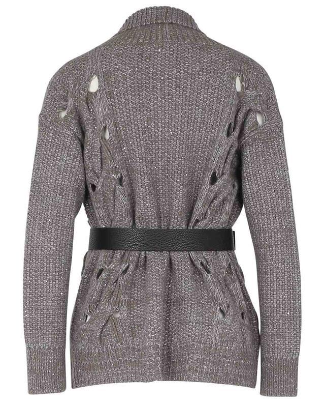 Cardigan pailleté avec ceinture en cuir FABIANA FILIPPI