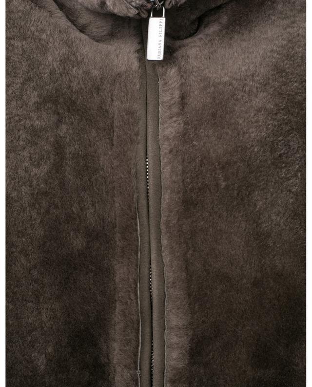 Pull à col montant en peau lainée FABIANA FILIPPI