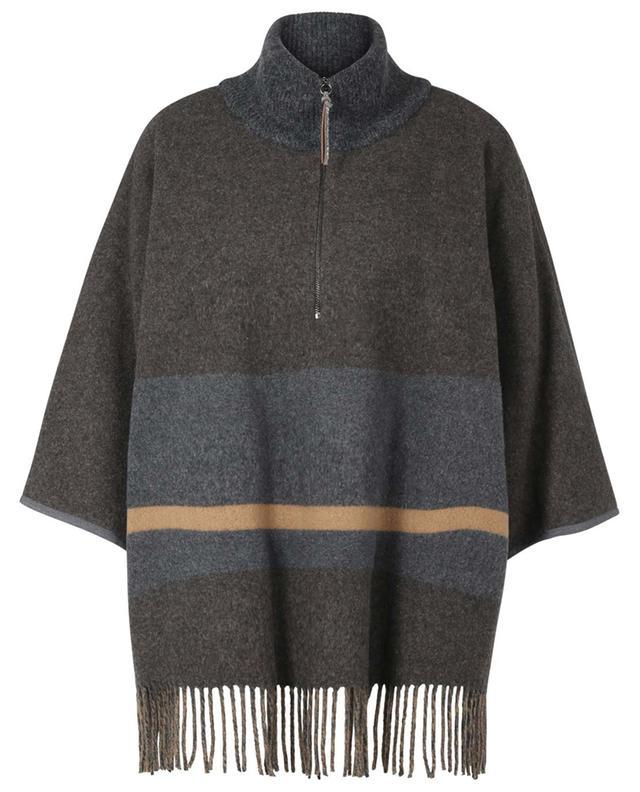 Poncho en laine vierge mélangée FABIANA FILIPPI