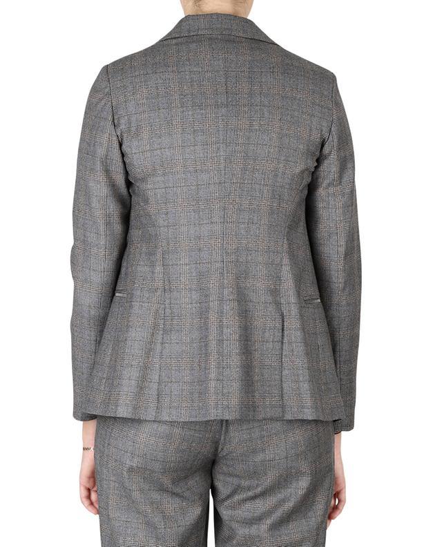 Blazer brodé en laine motif prince-de-galles FABIANA FILIPPI