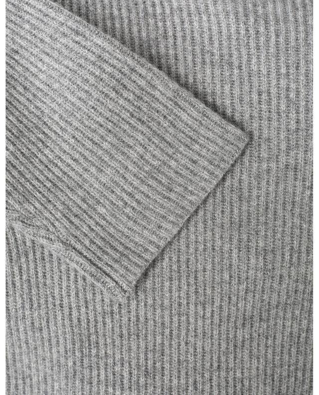 Pull en laine mérinos, soie et cachemire avec col en dentelle FABIANA FILIPPI