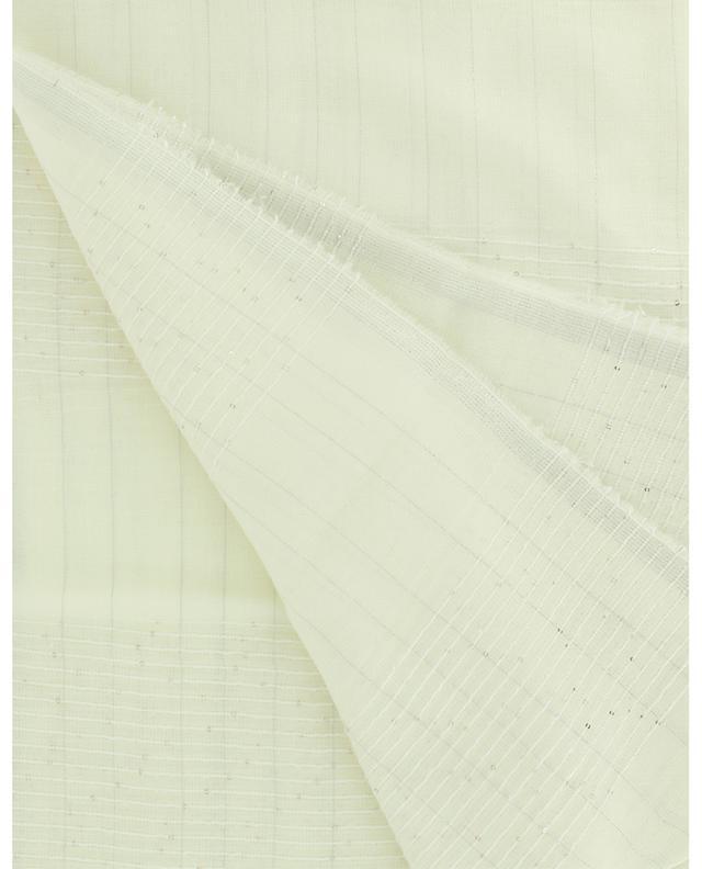 Écharpe légère à rayures texturées, lurex et sequins FABIANA FILIPPI