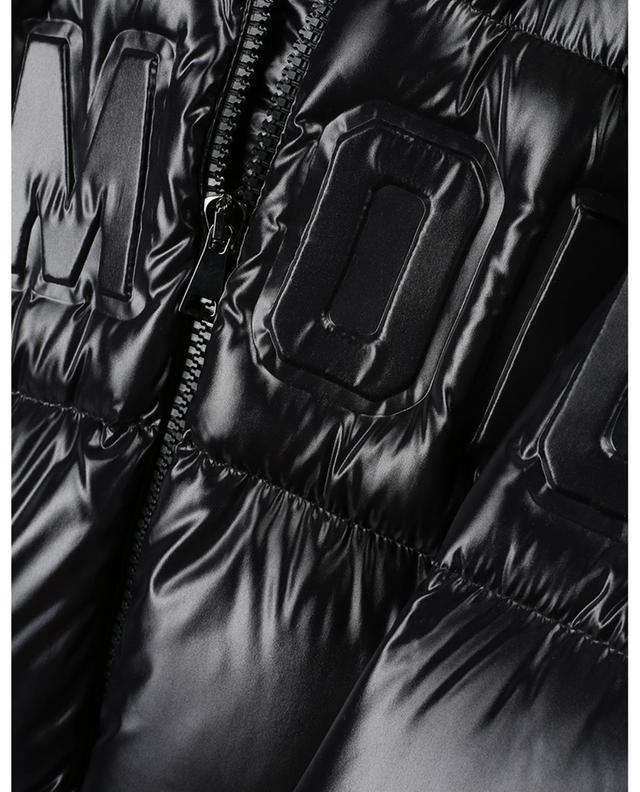 Doudoune gaufrée logo en nylon laqué Guernic MONCLER
