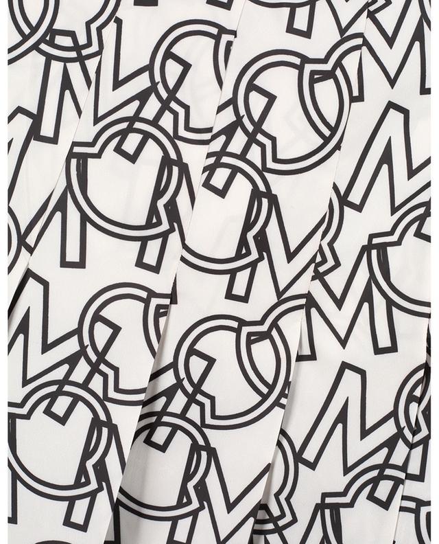 Jupe midi en nylon plissé imprimé logo MONCLER
