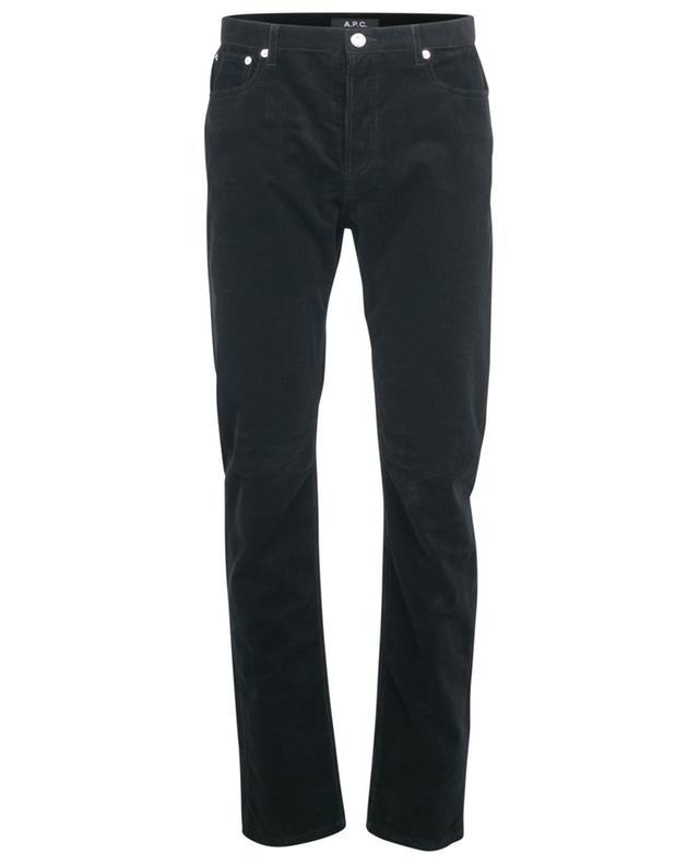 Slim-Fit-Jeans aus Kordsamt mit niedriger Taille Petit Standard A.P.C.
