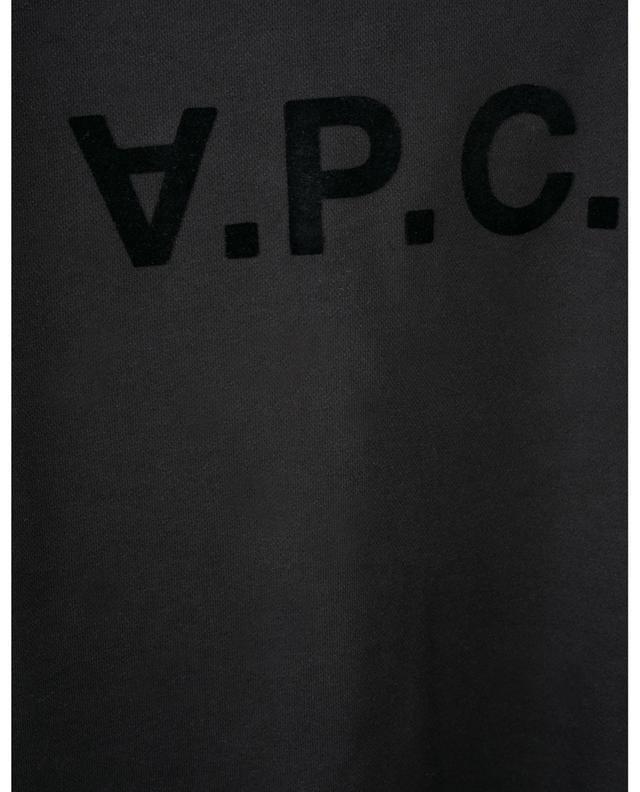 Sweat-shirt à col rond motif floqué V.P.C. A.P.C.