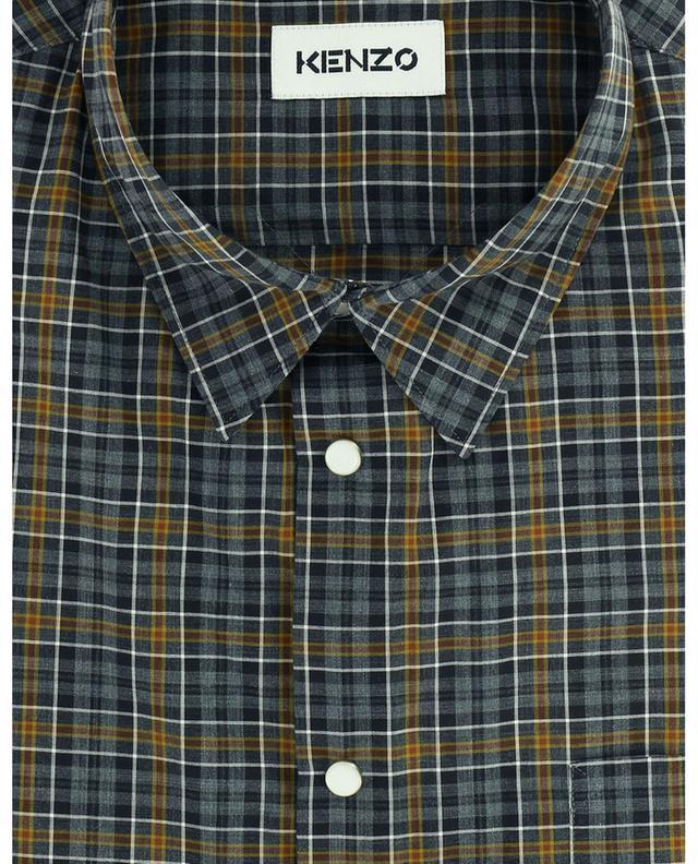 Chemise à carreaux en coton KENZO