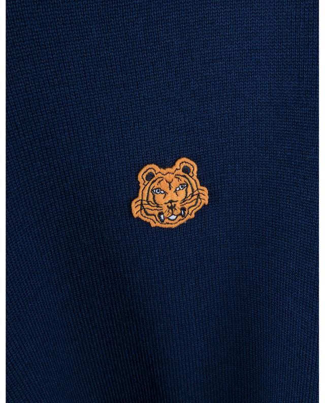 Pull léger en laine brodé Tiger Crest KENZO