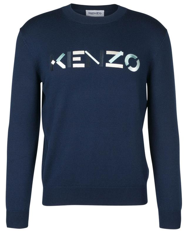 KENZO logo embroidered thin merino wool jumper KENZO