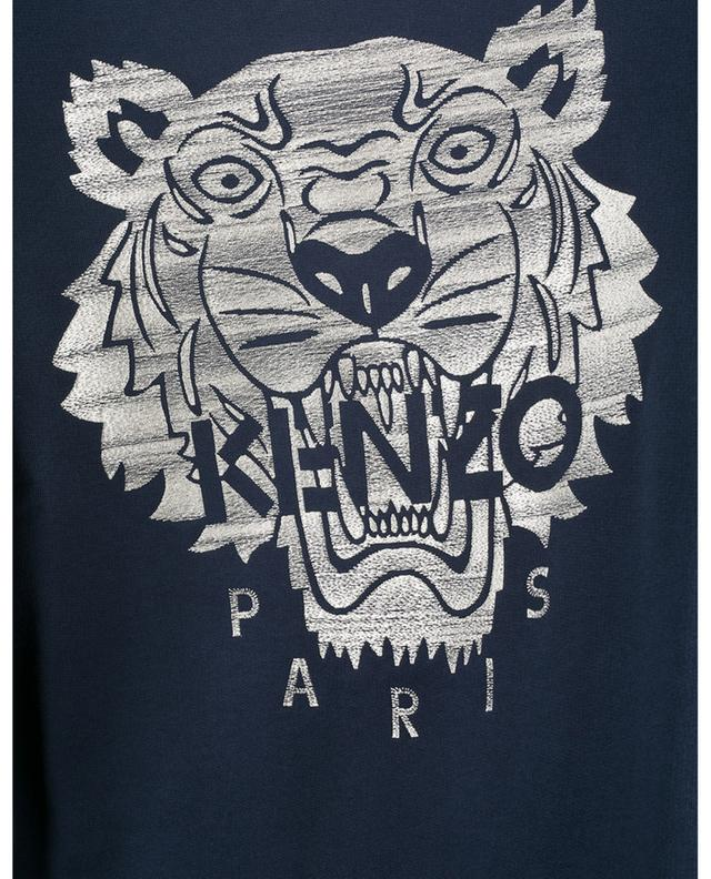 Sweat-shirt à col rond brodé Stitched Tiger KENZO