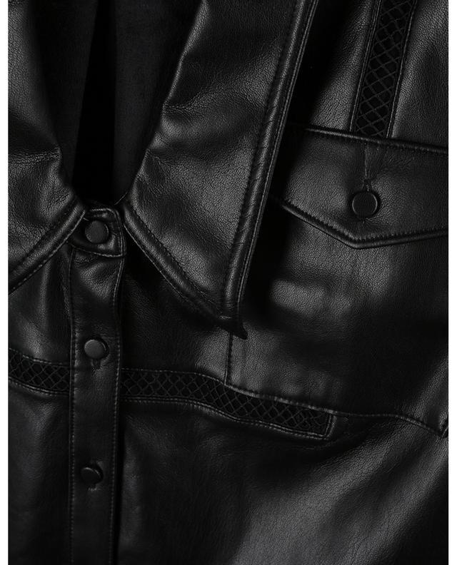 Faux leather lace trim top SELF PORTRAIT