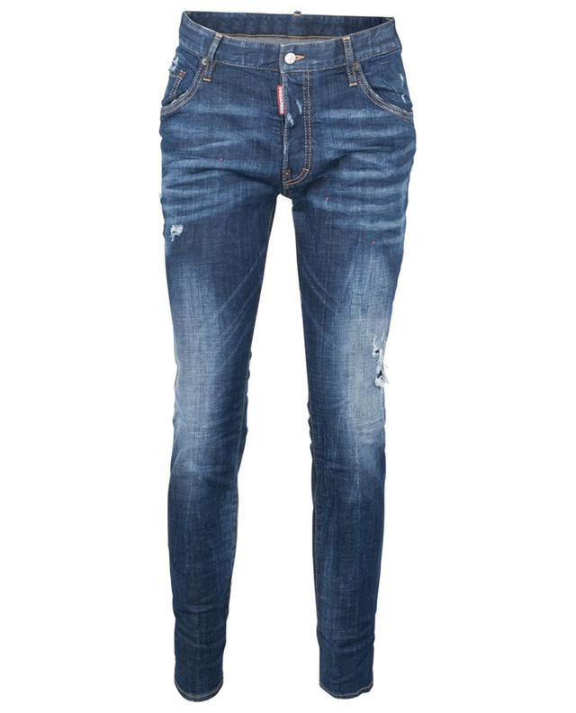 Jean slim taille basse Red Spot Broken Skater DSQUARED2