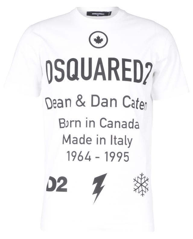 T-shirt imprimé multi-logo Born in Canada Cool Fit DSQUARED2