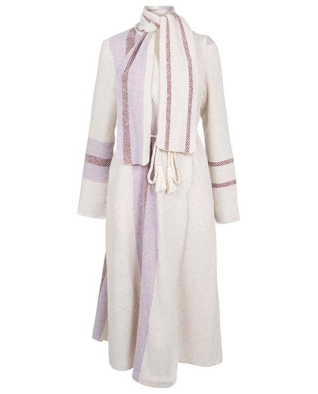 Manteau rayé en laine et alpaga FORTE FORTE