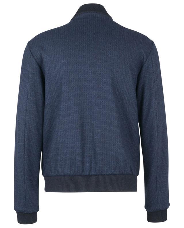 Checked wool felt bomber jacket MAURIZIO BALDASSARI