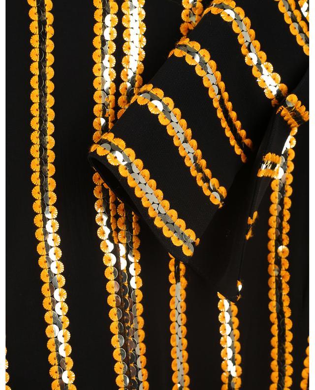 Robe portefeuille à rayures en sequins Pride GALVAN LONDON
