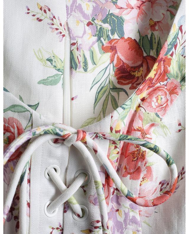 Bellitude floral linen crop top ZIMMERMANN