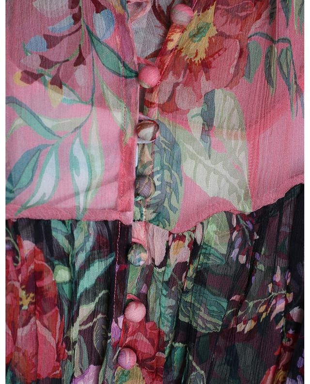 Robe en soie fleurie Bellitude ZIMMERMANN