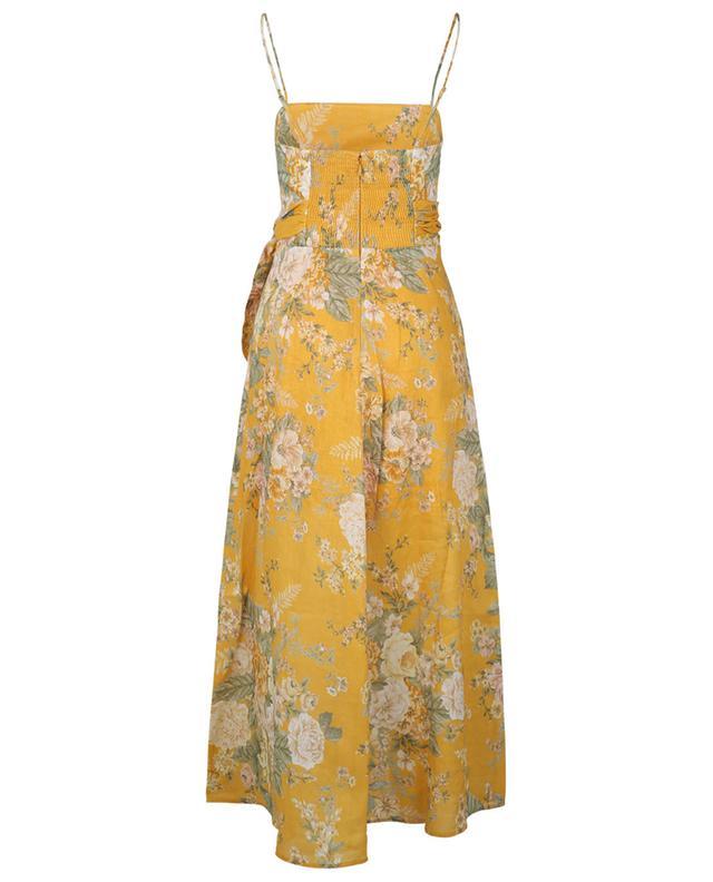 Robe midi à bretelles et découpe Amelie Scarf Tie Amber Floral ZIMMERMANN