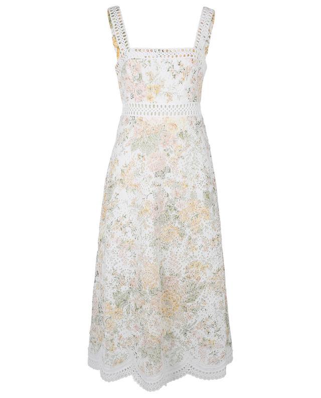 Robe midi à bretelles Amelie Embroidered Sundress Ivory Garden Florals ZIMMERMANN