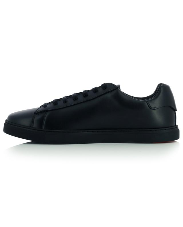 New Tennis ICON print low-top leather lace-up sneakers DSQUARED2