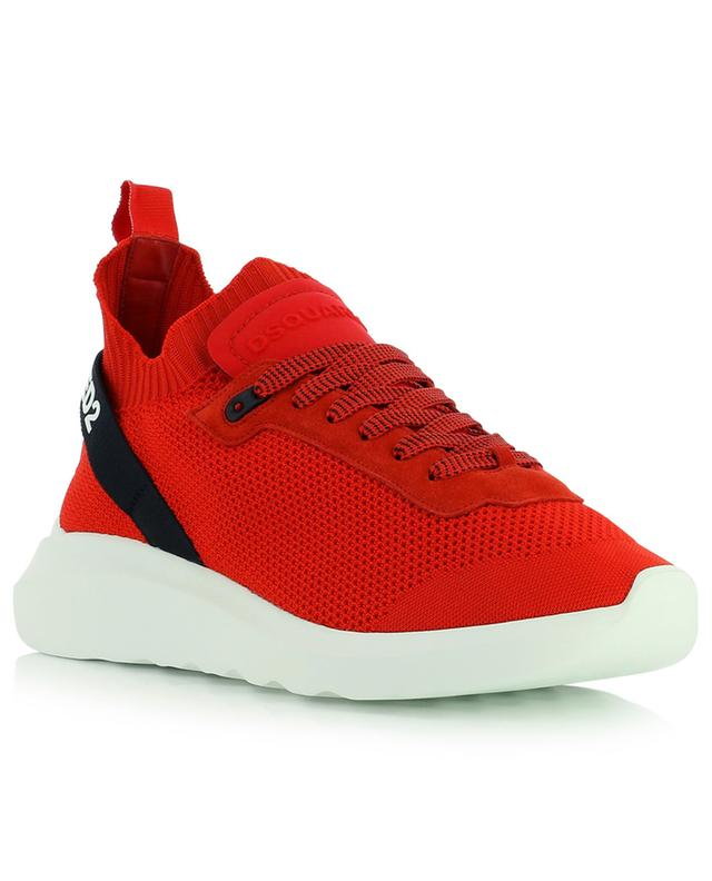 Speedster textured knit lace-up sneakers DSQUARED2