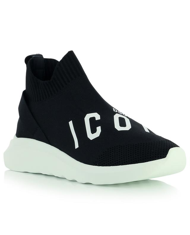 Speedster ICON printed slip-on knit sneakers DSQUARED2