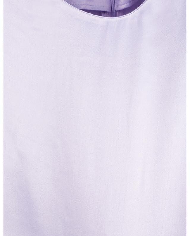 Top à manches courtes en satin Vera Pastel Lilac ROTATE BIRGER CHRISTENSEN