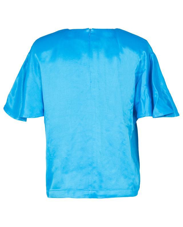 Vera short-sleeved textured satin top ROTATE BIRGER CHRISTENSEN