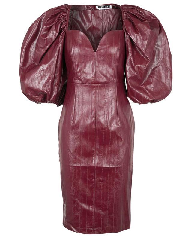 Robe courte ajustée en cuir végan Irina Zinfandel ROTATE BIRGER CHRISTENSEN