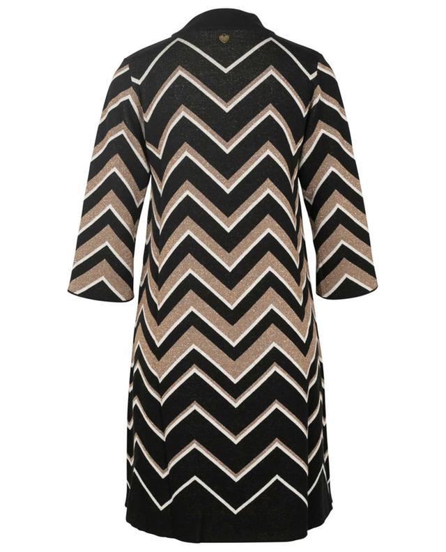 Short chevron print dress TWINSET