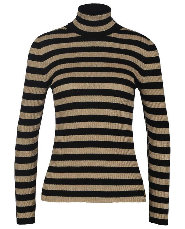 Gold and black striped turtleneck sheat jumper TWINSET