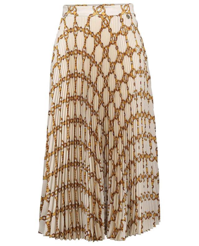 Pleated chain printed midi skirt TWINSET