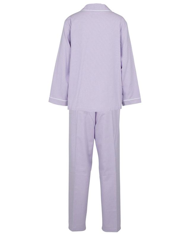 Pyjama en flanelle de coton à carreaux vichy bicolores Mouna CELESTINE