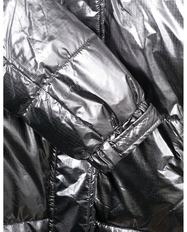 Lamé nylon hooded down jacket TWINSET