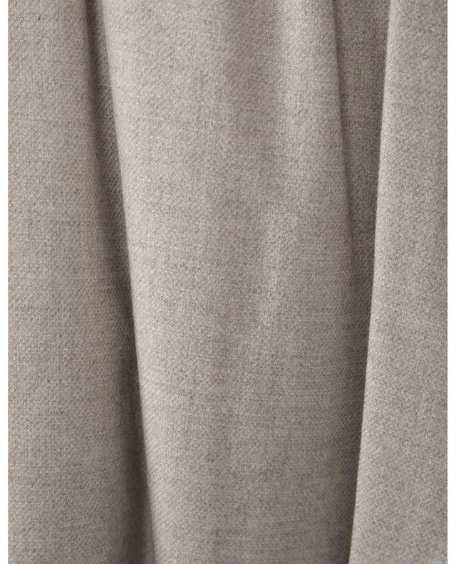 Pleated viscose and wool blend trousers VINCE