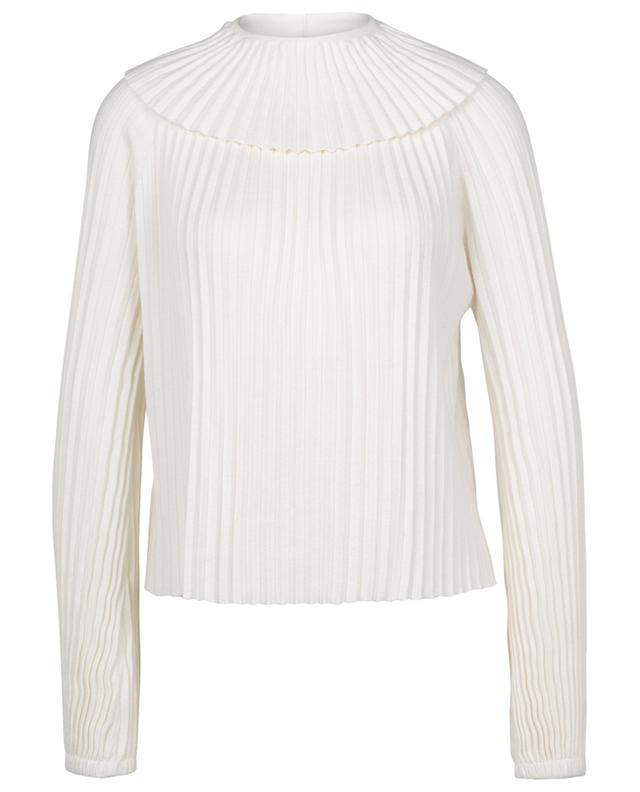Plissierter Pullover aus Baumwolle und Seide mit Rundhals SEE BY CHLOE