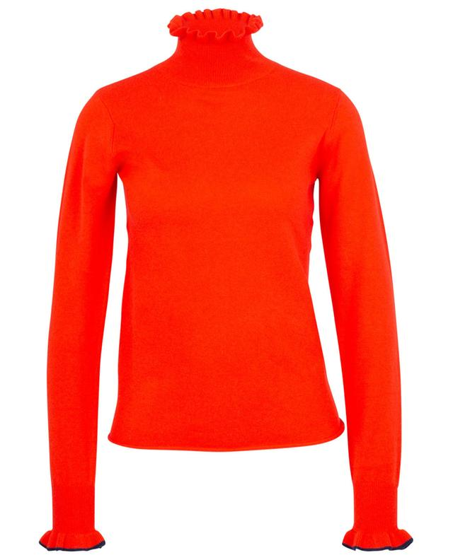 Fitted fine jumper with ruffled high neck SEE BY CHLOE